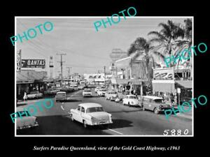 Old Historic Photo Of Surfers Paradise Queensland Gold Coast Highway C1963 1 Ebay
