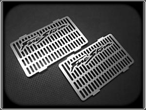 Pair-of-Brush-Grained-Radiator-Grills-for-HONDA-VTR1000-FIRESTORM-VTR-1000