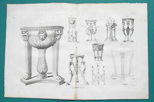 ROMAN-ANTIQUITIES-Tripod-Reserved-1804-Copperplate-Print