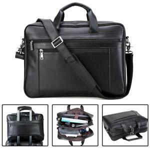 Large-Men-039-s-Leather-17-034-Laptop-Luggage-Briefcase-Messenger-Shoulder-Bag-Satchel