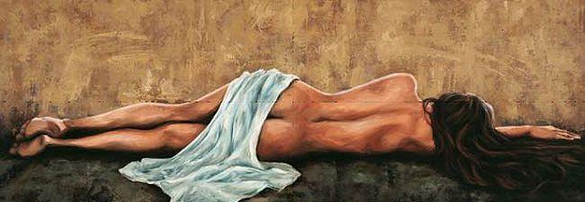 Romeo  Sogno Keilrahmen-Bild Leinwand Frau Akt Mädchen liegend