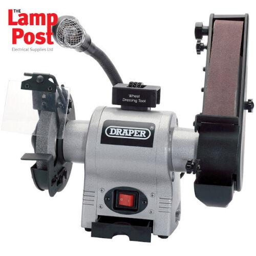 Draper 05096 150mm 370W 230V Bench Grinder with Sanding Belt and Worklight