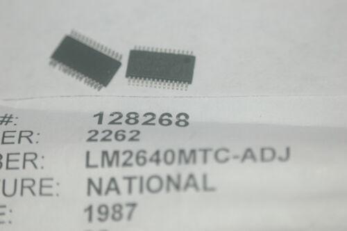 NATIONAL LM2640MTC-ADJ Dual Adjustable Step-Down Regulator New Lot Quantity-10