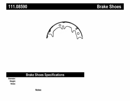 Parking Brake Shoe-Disc Rear Centric 111.08590