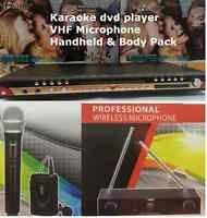 99900 English / Togalog Songs Midi Karake Dvd Player +vhf Body Pack Mic