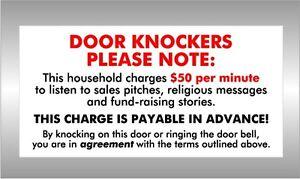 Image is loading DOOR-KNOCKERS-PLEASE-NOTE-do-not-knock-on-  sc 1 st  eBay & DOOR KNOCKERS PLEASE NOTE - do not knock on my door - agreement ...