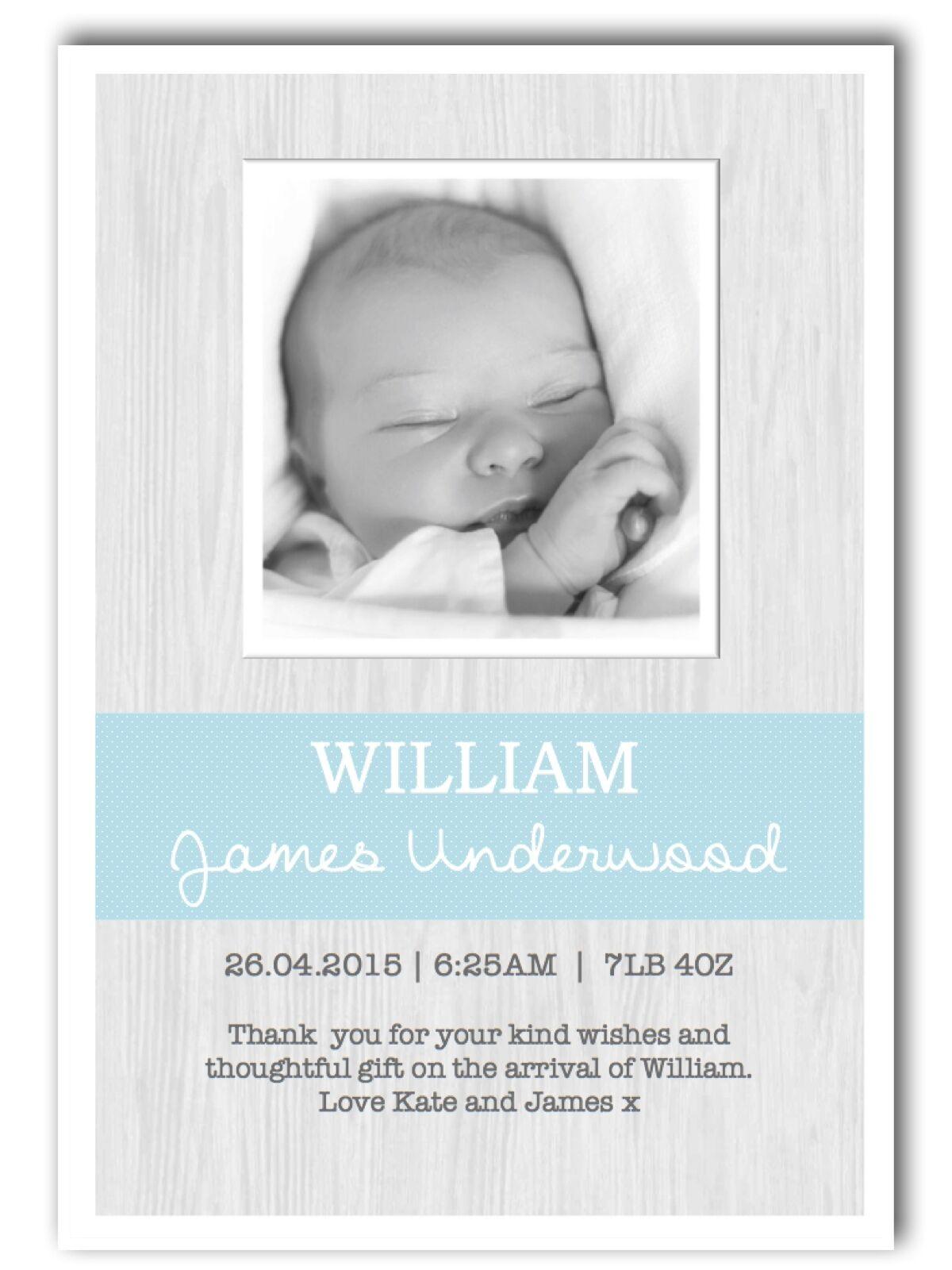 Foto Personalizzata Ringraziamenti  annuncio annuncio annuncio Battesimo. Baby Ragazzo Ragazza d64 1b914b