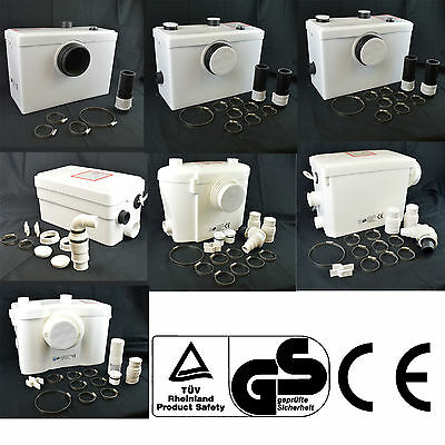 TOILET WC & BASIN SINK & BATH MACERATOR SANITARY WASTE WATER REMOVAL PUMP SYSTEM
