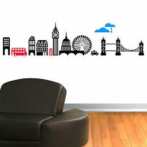 LONDON-SKYLINE-vinyl-wall-art-sticker-decal-mural