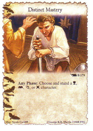 3 x Distinct Mastery AGoT LCG 1.0 Game of Thrones