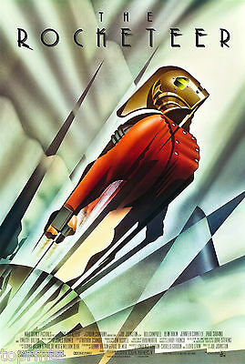 canvas  FILM  ART POSTER ROCKETEER A1 SIZE PRINT LARGE MOVIE