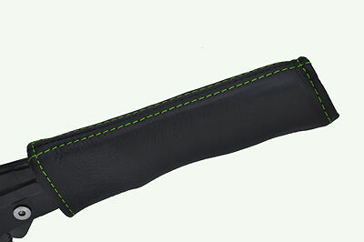 green stitching FITS MERCEDES SLK R170 96-04 HANDBRAKE HANDLE COVER ONLY