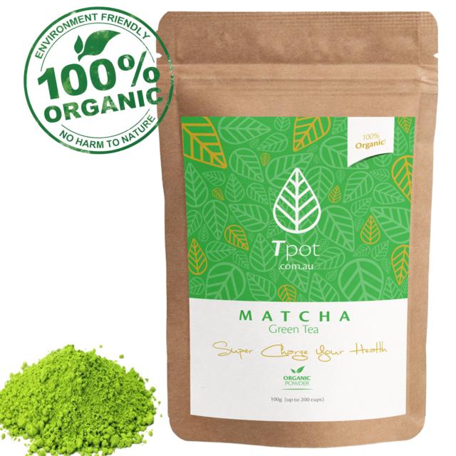 Matcha Green Tea Powder - ORGANIC Japanese - Latte - Up to 200 Serves