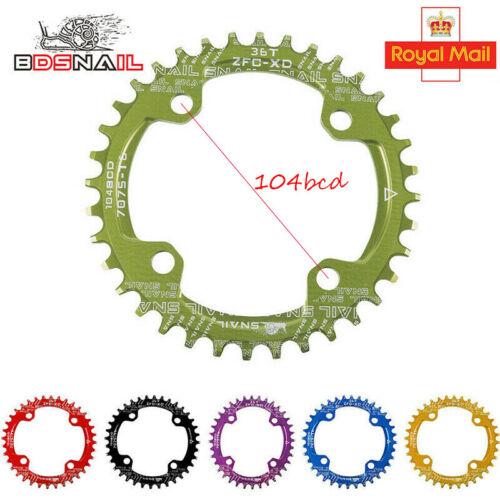 104bcd 30-42t Narrow Wide XC AM DH BMX MTB Road Bike Chainset Crank Chainring
