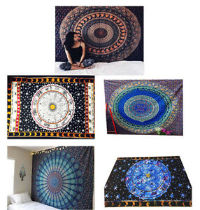 Indian Tapestry Wall Hanging Mandala Throw Hippie Throw Hippie Bedspread Gypsy