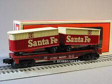 LIONEL ATSF FLATCAR W PIGGYBACK TRAILERS 6-81028 o gauge santa fe flat 6-81660
