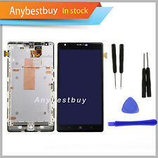 Black For Nokia Lumia 1520 LCD Screen Touch Repair Digitizer Part Assembly Frame
