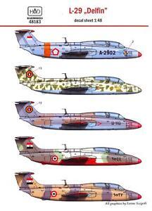 Hungarian-Aero-Decals-1-48-CZECH-AERO-L-29-DELFIN-in-International-Service