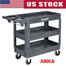 500 Lb 3 Tier Practical Service Tool Cart Heavy Duty Plastic Trolley Shop Tool