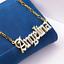 miniatura 36 - Personalizzato Argento Sterling 14 kGold Qualsiasi Nome Piastra Collana Catena Script USA