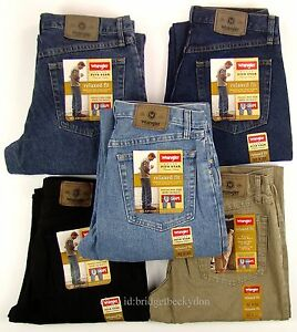 Wrangler-Jeans-RELAXED-FIT-New-Mens-Zipper-Fly-30-31-32-33-34-35-36-38-40-42-NWT