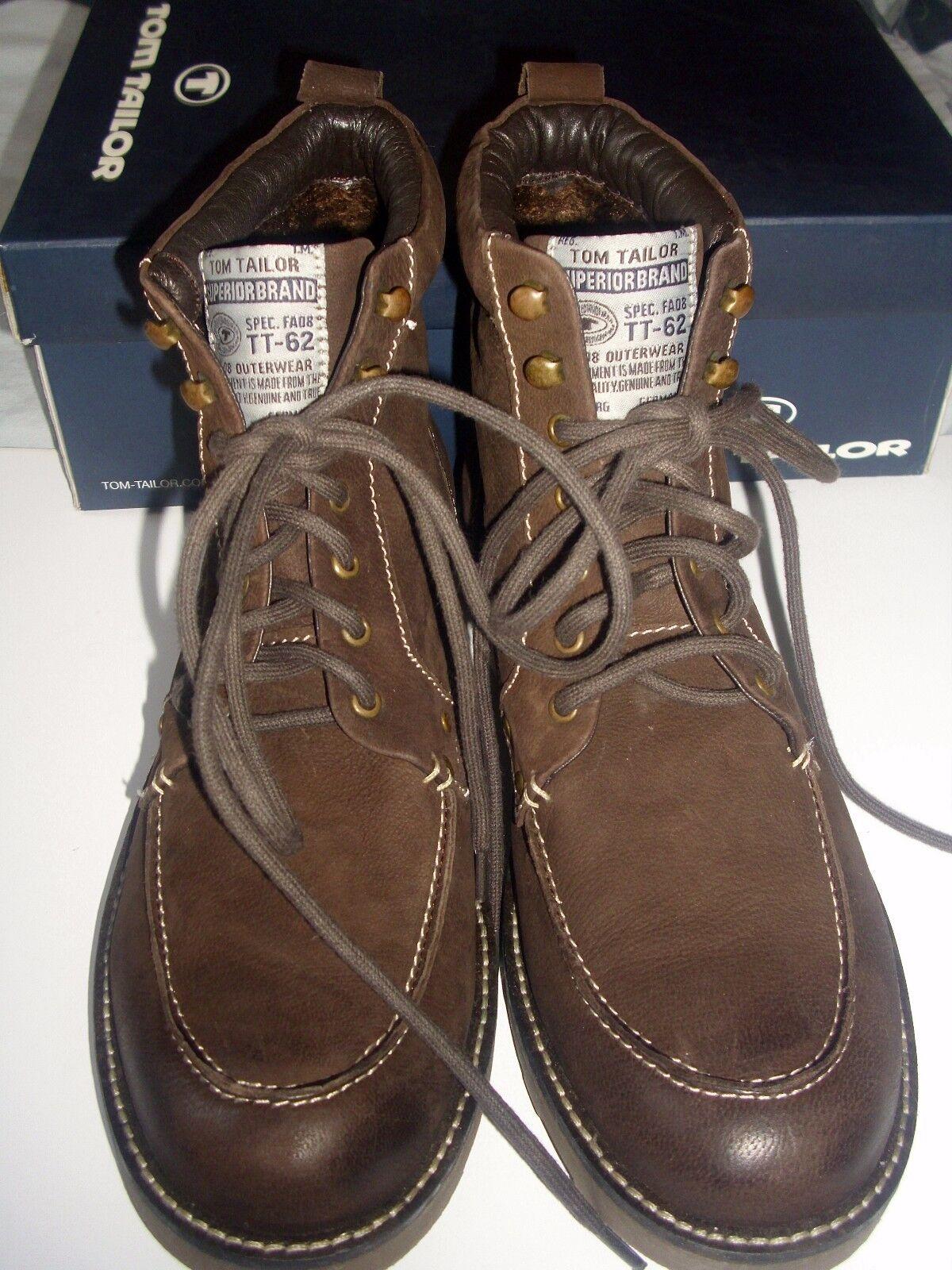 TOM TAILOR* Brass*Herren Schuhe*Boots *Stiefel*Winter *Fb.Braun*echt Leder *Neu*