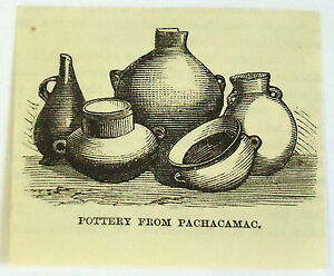 small-1883-magazine-engraving-POTTERY-FROM-PACHACAMAC-Peru