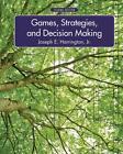 Games, Strategies, and Decision Making von Joseph E. Harrington (2014, Gebundene Ausgabe)
