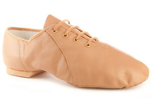 Bloch S0405L Women's Size 7 Medium Tan Lace Up Jazz Soft Jazz Dance Shoes