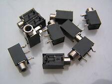 3.5mm Mono Jack Socket PCB Switched Right Angle Mount NA35MNS 10 pcs OM565
