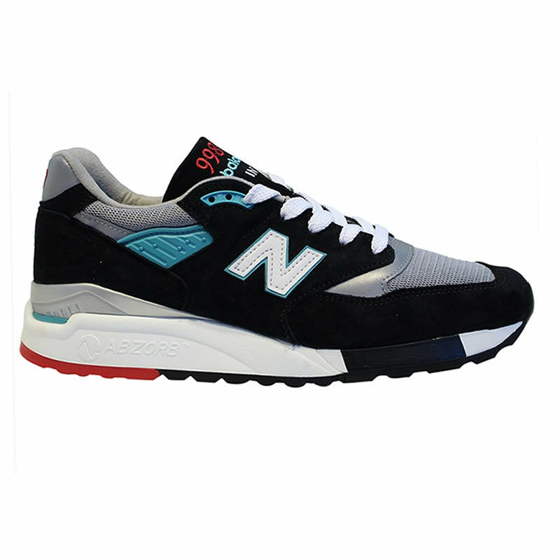 New New New Balance 998 MADE IN USA-NERO/Teal cae9c7