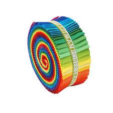 "Kaufman Kona Cotton Solids NEW CLASSIC Roll Up 2.5"" Fabric Strips RU-228-41"