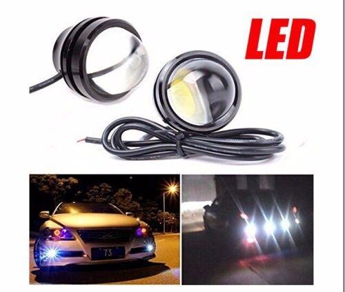 2x Car White LED Bull Eye Daytime DRL Fog Reverse Turn Backup Signal Light 6000K