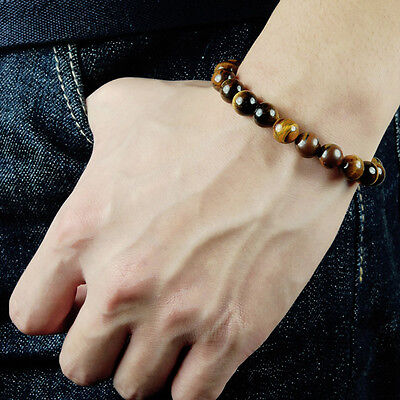 ONE ION POWER BEADS Tiger Eye Pure Ion Energy Balance Bracelet Band