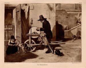 Alexandre-Gabriel-Decamps-the-Grinder-Etching-1903