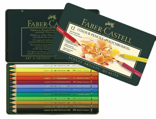 #110012 Tin of 12 Faber-Castell Polychromos Artists/' Art Colour Pencils New!