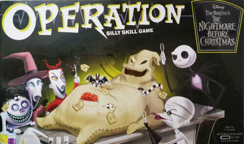 Disney Nightmare Before Christmas Operation Board Game Collectors Edition Gift