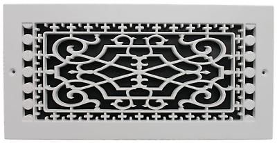 """20/"""" x 20/"""" Return Air Ventilation Steel Indoor Filter Grill White w Fixed Blades"""