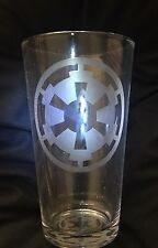 STAR WARS IMPERIAL SEAL  SYMBOL ETCHED  16oz PINT GLASS