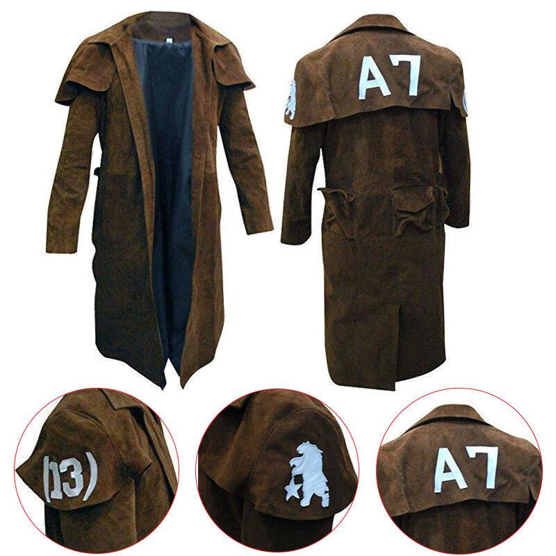 Vegas A7 Veteran Ranger Armor NCR Costume Gaming Trench Suede Leder Coat