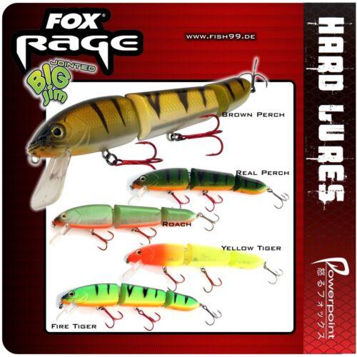 1 Stück FOX Rage Big Jim JOINTED Yellow Tiger 17,5 cm   NHB019
