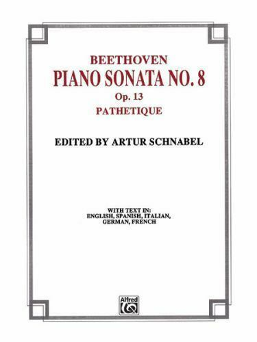 SONATA NO 8 IN C MINOR OP 13 PATHETIQUE BELWIN Artur Schnabel