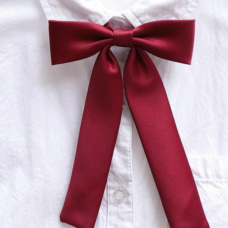 Girl Japanese JK Uniform Lolita Bow Tie Cosplay Neck Tie Ribbon Adjustable Solid