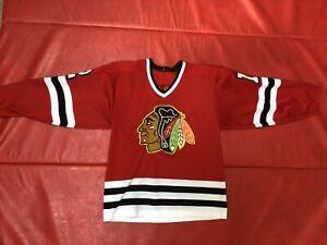 Chicago-Blackhawks-Sewn-Jersey-12-Tom-Lysiak-Gunzos-M-L-Practice-Game-Worn-Rare
