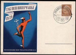 GERMANY PS STATIONERY POSTAL CARD 1939 SPECIAL CANCEL TAG DER BRIEFMARKE