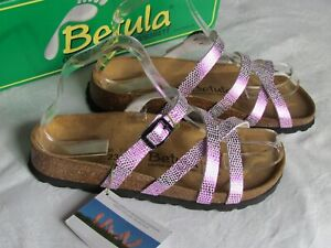 e4d9652349f6 NEW Betula By Birkenstock Ladies Pink Sparkle Mules Sandals UK Size ...