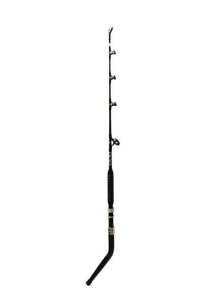 80-100 lbs Bent Butt Fishing Rod and 50 Wide Wide Wide 2 Speed blu Marlin Fishing Reel d3c547