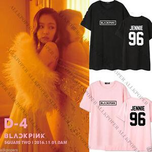 Kpop Blackpink T Shirt Square Two Tshirt Jennie Rose Lisa Unisex