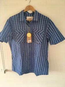 Men-039-s-NWT-Mountain-Design-S-Sleeve-Shirt-Size-2XL-Free-post