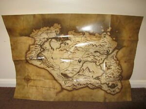 Skyrim-Limited-edition-large-Map-48cm-x-68cm-Brand-New-ps3-Xbox-360-Pc